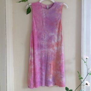 American Apparel Pink Orange Tie Dye Dress Party